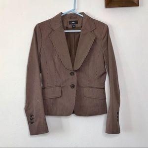 H&M Striped Brown Blazer Size 8